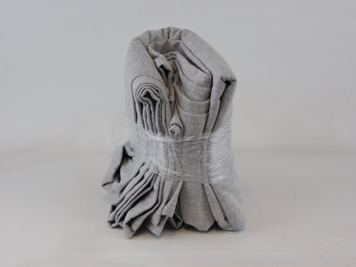 GREY CURTAINS 2-PACK